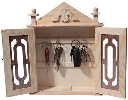 amazon com key organizer key cabinet natural wood key storage
