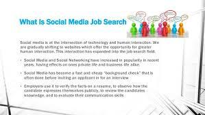 Social Media Job Resume by Business Graduates And The Social Media Job Search