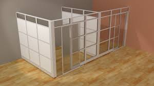Rolling Room Dividers by Architectual Wall System L Modern Glass Wall Office Cubicle With