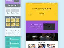 landing page template sketch freebie download free resource for
