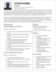 Unit Secretary Resume Resume Secretary Resume Legal Secretary Resume Skills Company