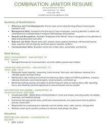 Resume For Custodian Best Photos Of Sample Janitor Resume Skills Entry Level