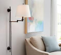 Sconce Lamp Shades Elise Adjustable Sconce Pottery Barn