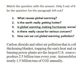 Global Warming Worksheet Warming Worksheet