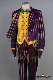 the beatles halloween costumes batman arkham asylum joker cosplay costume coat suit batman