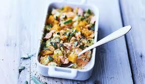 patate douce cuisine gratin de saumon patate douce pomme de terre et crème citronnée