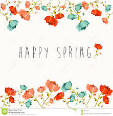 happy spring flower composition stock vector image 39787411