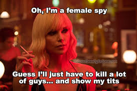 Blonde Meme - review atomic blonde sexy but complicated with one crazy