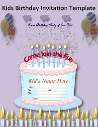 Designs For Birthday Invitation Cards Birthday Invitation Card Template For Kids Festival Tech Com