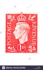 british postage stamp penny red corner letters j n stock photo