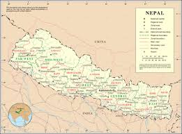 map of nepal and india nepal