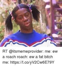 Ew Meme - rt me ew a roach roach ew a fat bitch me httpstcoyv2cw6e79y bitch