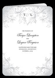 scroll wedding programs faded scroll papercuts invitation design
