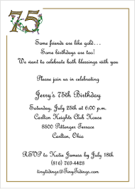 75th birthday party invitations cimvitation