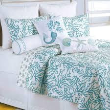 Navy Blue Coverlet Queen Bedroom Cute Coral Bedspread For Nice Decorative Bedding Design