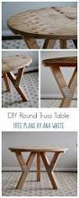 Amazing Diy Table Free Downloadable Plans by Best 25 Round Coffee Table Diy Ideas On Pinterest Diy Table