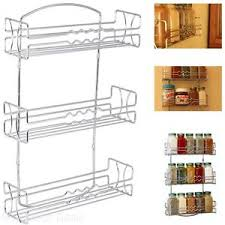 wall mounted spice rack cabinet kitchen rv 3 tier shelf wall mounted spice jar rack storage cabinet