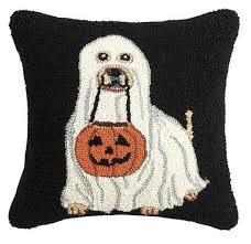 Ghost Dog Halloween Costumes Ghost Dog Pumpkin Bucket Pillow Hooked Ghost Costume