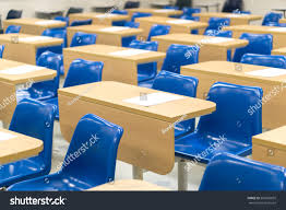 lecture tables and chairs thai lecture chairs tables classroom stock photo 507626695