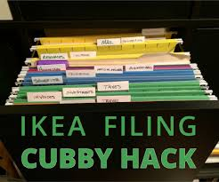 Suspension Folders For Filing Cabinets Ikea Expedit Filing Cabinet Hack 6 Steps With Pictures