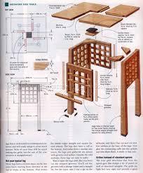 Side Table Plans Gridwork Side Table Plans U2022 Woodarchivist
