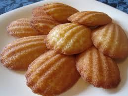 seashell shaped cookies lemon rum madeleines