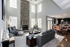 Fischer Homes Design Center Erlanger Ky by Stacked Stone Accents This Soaring Fireplace A New Home By Dan