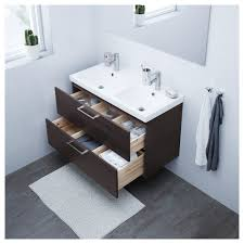 godmorgon sink cabinet with 2 drawers high gloss white 31 1