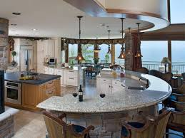 large kitchen island shaped island with