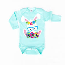 personalized easter baby girl clothes personalized onesie custom baby onesie shop