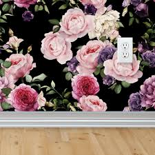 vintage floral wallpaper dark u2013 shop project nursery