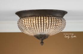 wrought iron flush mount lighting uttermost cristal de lisbon flush mount for hallway in front of the