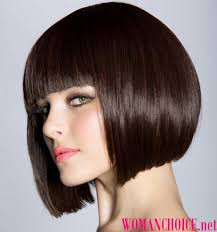 neckline photo of women wth shrt hair short quads with bangs hairstyles short cuts of the square