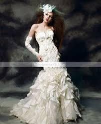 izidress robe de mari e trumpet mermaid one shoulder organza wedding dress izidresses