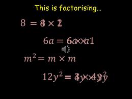 factorising algebraic expressions