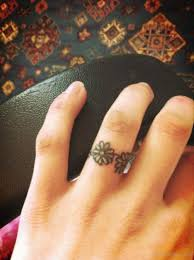 flower tattoo ring flower ring tattoo tattoo designs tattoo pictures