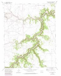 Colorado Highway Map by Painted Canyon Topographic Map Co Usgs Topo Quad 37103c8