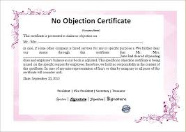 no objection letter for employee no objection certificate templates microsoft word u0026 excel templates
