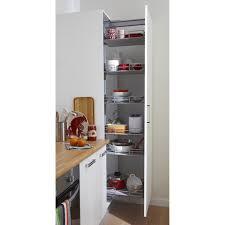 meuble de rangement cuisine rangement coulissant colonne 6 paniers pour colonne l 60 cm delinia