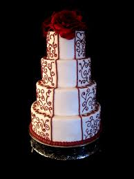 wedding cake white and red rose danville ky the twisted sifter