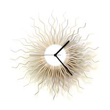 Wooden Wall Clock Medusa Silver Large Sized Contemporary Wooden Wall Clock