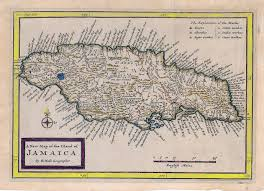 Jamaica Map Antique Maps Of The Caribbean Basin