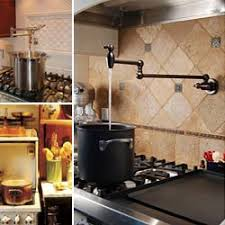 wall mount pot filler kitchen faucet this potfiller by the stovetop is an absolute necessity mi casa