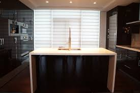 Black Lacquer Kitchen Cabinets by Dishy Lacquered Kitchen Cabinets With Modern Layout Black And