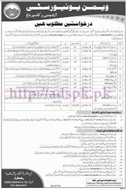 nts new jobs women university aj u0026k bagh jobs written test syllabus