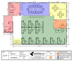office floor plan for an office with large meeting room