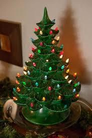 ceramic christmas tree with lights green ceramic christmas tree lights home design and decorating
