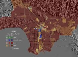 La County Map Race Ethnic Majority Map Los Angeles County 1940 Highlighting