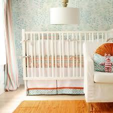 Orange Crib Bedding Turquoise Blue And Orange Crib Bedding Contemporary Nursery