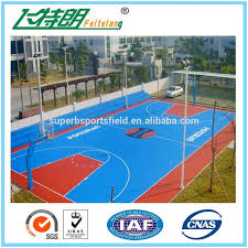 Basketball Court In Backyard Cost by Backyards Cozy This Is A Forest Green And Red Concrete Backyard